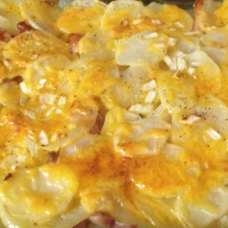 Scalloped Cheesy Ham and Potatoes