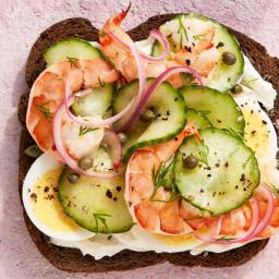 Scandinavian Shrimp-and-Cucumber Sandwich