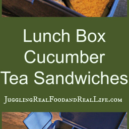 School Lunch Favorite: Cucumber Tea Sandwiches