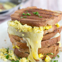 Scrambled Egg Grilled Cheese