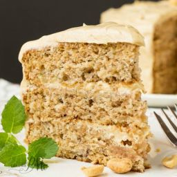 Scratch-Made Banana Cake with Peanut Butter Frosting Recipe