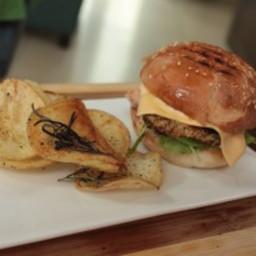 Sea Bass Burger with Wasabi Mayo Recipe