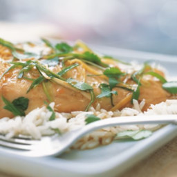 Sea Bass with Ginger and Green Onions
