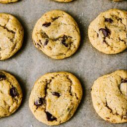 Vegan Sea Salt Chocolate Chip Cookies