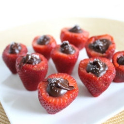 Sea Salt Chocolate Stuffed Strawberries