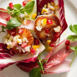 Sea Scallop Salad with Meyer Lemon and Pomegranate
