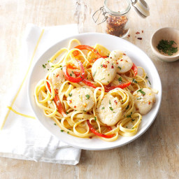 Sea Scallops and Fettuccine Recipe