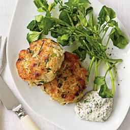 Seafood Cakes with Mustard Crema
