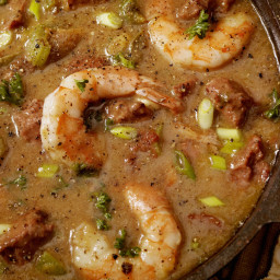 Seafood Gumbo with Shrimp and Crab Meat