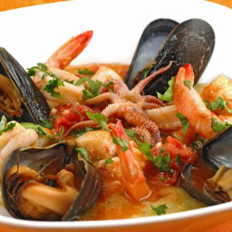 Seafood Medley with Tomato-Butter Sauce
