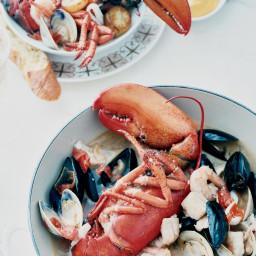 Seafood Stew with Saffron Zabaglione