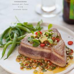 Seared Ahi Tuna with Asian Avocado Salsa