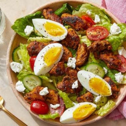 Seared Chicken & Cobb-Style Salad with Guacamole Dressing  & Goat C