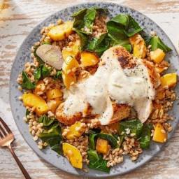 Seared Chicken & Lemon-Dijon Sauce with Autumn Harvest Farro Salad