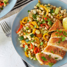 Seared Chicken and Pasta Saladwith Lemon-Caper Sauce