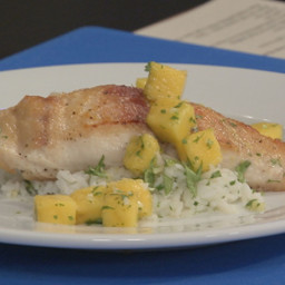 Seared Mahi-Mahi with Mango Sauce and Fragrant Rice