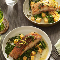 Seared Salmon with Sweet Potatoes