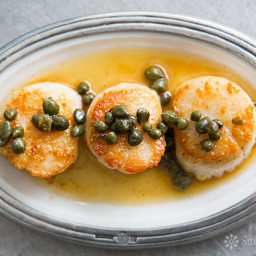Seared Scallops with Brown Butter Caper Sauce