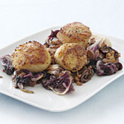 Seared Scallops with Warm Radicchio and Pancetta