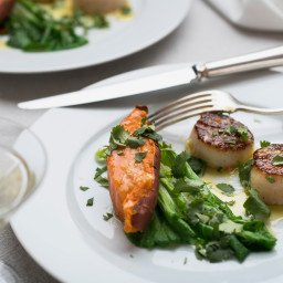 Seared Sea Scallops With Ginger-Lime Butter