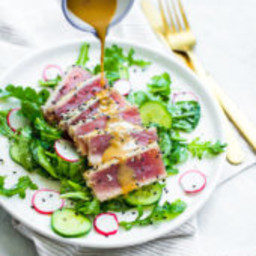 Seared Tuna Salad with Wasabi Butter Sauce