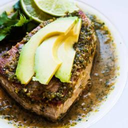 Seared Tuna with Avocado