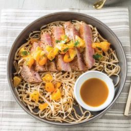 Seared Tuna with Spicy Noodles