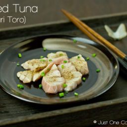 Seared Tuna Sashimi (Aburi Toro)