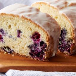 Secret-Ingredient Lemon-Blueberry Pound Cake