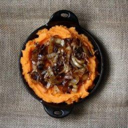 Semi Sweet Potato Mash with Caramelized Onions