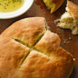 Semolina and Rosemary Boule
