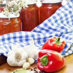 Serbian Roasted Eggplant Pepper Spread (Ajvar) Recipe