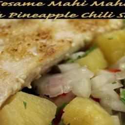 Sesame Mahi Mahi with Pineapple-Chilli Salsa