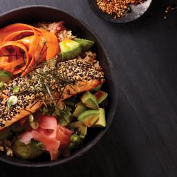 Sesame Salmon Sushi Rolls