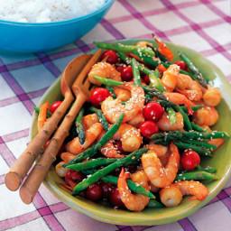 Sesame Shrimp and Asparagus Stir-Fry