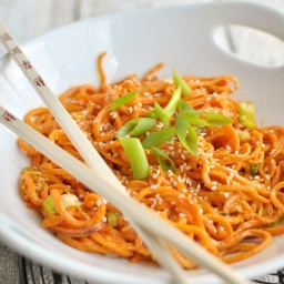 Sesame Sweet Potato Noodles