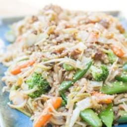 Sesame Vegetables with Rice Noodles