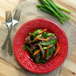 Sesame Beef Strips and Stir-Fry Vegetables for #Weekday Supper