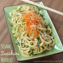Sesame Zucchini Noodles (Zoodles)