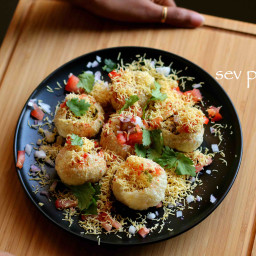 sev puri recipe | how to make sev poori chaat recipe