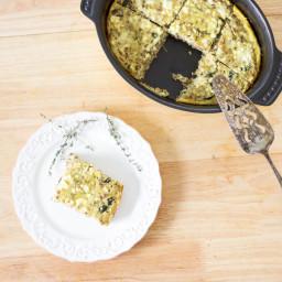 Sfougato | Rhodes Quiche | Greek Style Omelette