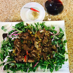 Shaken Beef with Watercress