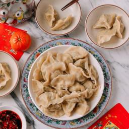 Shandong Pork and Fish Dumplings (Jiaozi)