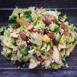 Shaved Brussels Sprouts and Cauliflower Salad