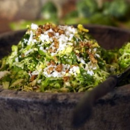 Shaved Brussels Sprouts Salad with Marcona Almonds and Pecorino