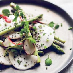 Shaved Turnip and Radish Salad with Poppyseed Dressing