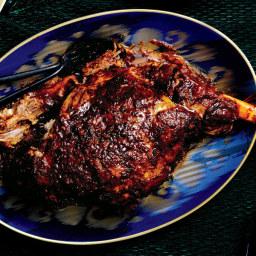 Shawarma-Spiced Braised Leg of Lamb