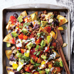 Sheet Pan Beef & Black Bean Nachos