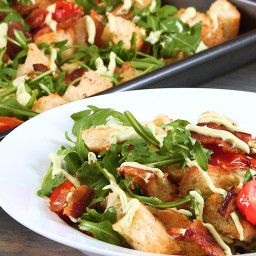 Sheet Pan BLT Salad with Avocado Mayo