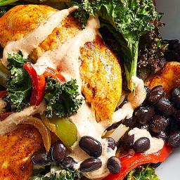 Sheet-Pan Chicken Fajita Bowls